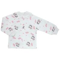 Купить Кофточка детская Трон-Плюс, цвет: белый, розовый, рисунок коровы. 5174. Размер 74, 9 месяцев, Трон-плюс, Одежда для новорожденных