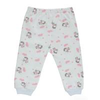 Купить Ползунки Трон-Плюс, цвет: белый, розовый, рисунок коровы. 5325. Размер 68, 6 месяцев, Трон-плюс, Одежда для новорожденных
