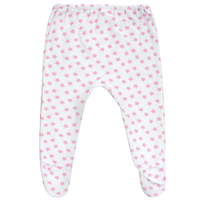 Купить Ползунки Трон-Плюс, цвет: белый, розовый, рисунок звезды. 5256. Размер 68, 6 месяцев, Трон-плюс, Одежда для новорожденных