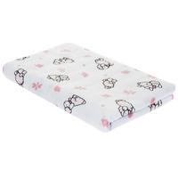 Купить Пеленка детская Трон-Плюс , цвет: белый с розовыми коровками, 120 см х 90 см, Трон-плюс