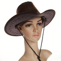 Купить Маскарадная шляпа Ковбой , цвет: коричневый. 31335, Феникс-Презент, Карнавальные костюмы и аксессуары