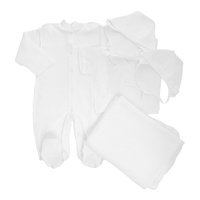 Купить Комплект для новорожденного Трон-Плюс, 5 предметов, цвет: белый. Размер 56, 1 месяц, Трон-плюс, Одежда для новорожденных