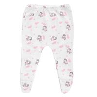 Купить Ползунки Трон-Плюс, цвет: белый, розовый, рисунок коровки. 5223. Размер 68, 6 месяцев, Трон-плюс, Одежда для новорожденных