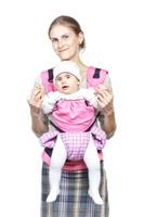 Купить Слинг-рюкзак Бебимобиль , цвет: розовый, сиреневый, Чудо-Чадо
