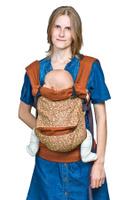 Купить Слинг-рюкзак Чудо-Чадо , льняной, цвет: роял