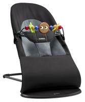 Купить Кресло-шезлонг Babybjorn Balance Soft , с игрушкой, цвет: черный, серый, 3, 5-12 кг