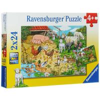 Купить Ravensburger Поездка в деревню. Пазл, 2 х 24 элемента, Обучение и развитие