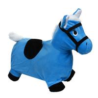 Купить Надувная игрушка-попрыгун Лошадка , цвет: голубой, Наша Игрушка, Батуты, попрыгуны