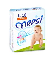 Купить Mepsi Подгузники, L, 9-16 кг, 18 шт
