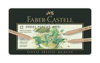 Купить Пастельные карандаши PITT®, набор цветов, в металлической коробке, 12 шт., Faber-Castell