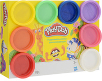 Купить Play-Doh Rainbow Color Pack, Пластилин 8 цветов, Hasbro