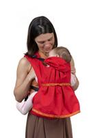 Купить Слинг-рюкзак Чудо-Чадо Дочкомобиль , цвет: красный