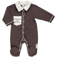Купить Комбинезон для мальчика Lucky Child, цвет: кофейный. 20-1. Размер 62/68, Одежда для новорожденных
