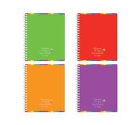 Купить Полиграфика Тетрадь на спирали, 60л Rainbow, цвет: фиолетовый, Тетради