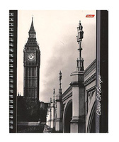 Купить Тетрадь двойная с 4-мя обложками 96л А5ф на гребне-Города Европы-, Hatber