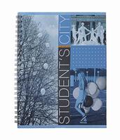 Купить Тетрадь на спирали, 60л Student's City, мет.картон, воздушные шары, Полиграфика
