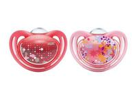 Купить Пустышка силиконовая для сна NUK Freestyle , от 18 до 36 месяцев, ортодонтическая, цвет: розовый, 2 шт, Пустышки