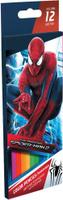 Купить Набор цветных карандашей, 12 шт. Amazing Spider-man 2. Цветные карандаши длиной 17, 8 см; заточенные; дерево - липа; цветной грифель 3 мм; карандаш в цвет грифеля с логотипом; логотип - тиснение золотом ; Коробка из мелованного картона, раздвижная, европо, Kinderline