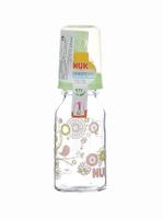Купить Бутылочка для кормления NUK , стеклянная с силиконовой соской, от 0 до 6 месяцев, 125 мл, в ассортименте, Бутылочки