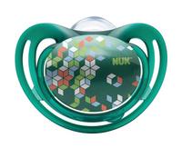 Купить Пустышка силиконовая для сна NUK Freestyle , от 18 до 36 месяцев, ортодонтическая, цвет: зеленый, 2 шт