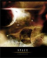 Купить Полиграфика Тетрадь, 96л Вселенная оранжевая желтая, Тетради