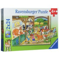 Купить Ravensburger День на ферме. Пазл, 2 х 24 элемента, Обучение и развитие