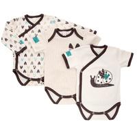 Купить Боди детское Lucky Child Улитки, цвет: молочный, коричневый, 3 шт. 30-133. Размер 74/80, Одежда для новорожденных