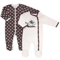 Купить Комбинезон детский Lucky Child Улитки, цвет: светло-бежевый, коричневый, 2 шт. 30-131. Размер 56/62, Одежда для новорожденных