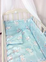 Купить Фея Простыня на резинке Мишки цвет голубой 60 х 120 см