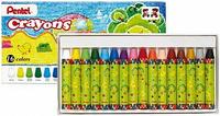 Купить Мелки восковые Pentel Crayons , 16 цветов, Мелки и пастель