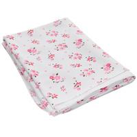 Купить Пеленка трикотажная Трон-Плюс Цветы , цвет: белый, розовый, 120 см х 90 см, Трон-плюс