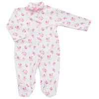 Купить Комбинезон для девочки Трон-плюс, цвет: белый, розовый. 5815_цветы. Размер 80, 12 месяцев, Одежда для новорожденных