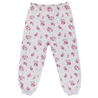 Купить Штанишки для девочки Трон-плюс, цвет: белый, розовый. 5315_цветы. Размер 86, 18 месяцев, Одежда для новорожденных
