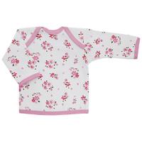 Купить Футболка с длинным рукавом для девочки Трон-плюс, цвет: белый, розовый. 5611_цветы. Размер 86, 18 месяцев, Одежда для новорожденных