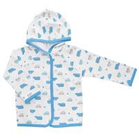 Купить Кофточка для мальчика Трон-плюс, цвет: белый, голубой. 5162_машинки. Размер 74, 9 месяцев, Одежда для новорожденных