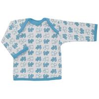 Купить Футболка с длинным рукавом детская Трон-плюс, цвет: белый, голубой. 5611_котенок. Размер 86, 18 месяцев, Одежда для новорожденных
