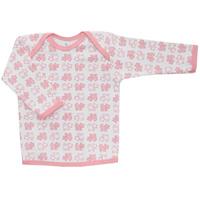 Купить Футболка с длинным рукавом детская Трон-плюс, цвет: белый, розовый. 5611_котенок. Размер 86, 18 месяцев, Одежда для новорожденных