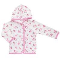 Купить Кофточка для девочки Трон-плюс, цвет: белый, розовый. 5162_цветы. Размер 86, 18 месяцев, Одежда для новорожденных