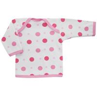 Купить Футболка с длинным рукавом детская Трон-плюс, цвет: белый, розовый. 5611_горох. Размер 86, 18 месяцев, Одежда для новорожденных