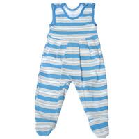 Купить Ползунки с грудкой Трон-плюс, цвет: голубой, белый, светло-бежевый. 5247_полоска. Размер 68, 6 месяцев, Одежда для новорожденных