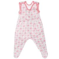 Купить Ползунки с грудкой Трон-плюс, цвет: белый, розовый. 5247_котенок. Размер 68, 6 месяцев, Одежда для новорожденных