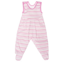 Купить Ползунки с грудкой Трон-плюс, цвет: розовый, белый. 5247_полоска. Размер 68, 6 месяцев, Одежда для новорожденных