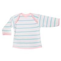 Купить Футболка с длинным рукавом детская Трон-плюс, цвет: бирюзовый, розовый, белый. 5611_полоска. Размер 86, 18 месяцев, Одежда для новорожденных