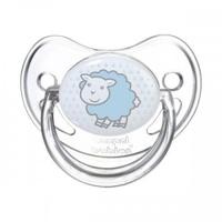 Купить Canpol Babies Пустышка силиконовая ортодонтическая от 6 до 18 месяцев цвет голубой