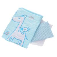 Купить Комплект детского постельного белья Fairy Жирафик , цвет: голубой, 3 предмета, Fairy (ВПК), Постельное белье