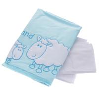 Купить Комплект детского постельного белья Fairy Белые кудряшки , цвет: голубой, 3 предмета, Fairy (ВПК), Постельное белье