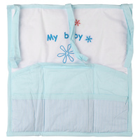 Купить Карман на кроватку Fairy Белые кудряшки , цвет: белый, голубой, 59 см х 60 см, Fairy (ВПК), Бортики, бамперы