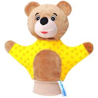 Купить Мягкая игрушка на руку Мишка , 22 см, в ассортименте, Мякиши, Кукольный театр