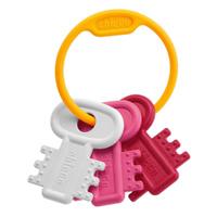 Купить Chicco Погремушка Ключи на кольце , цвет: белый, розовый, Artsana S.p.A., Первые игрушки