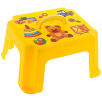 Купить Табурет-подставка детский Idea , с ручкой, цвет: желтый